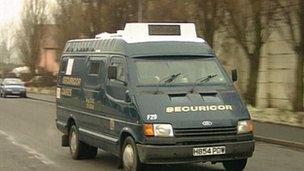 The security van the money was taken from