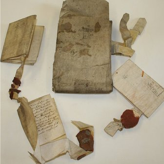 Manuscripts and wills from Mostyn family