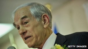 Candidate for the Republican presidential nomination Ron Paul