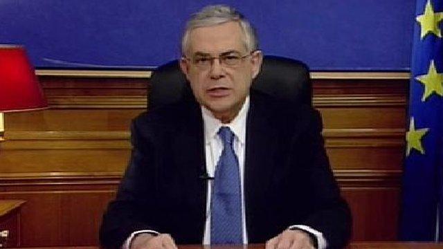 Greek PM Lucas Papademos