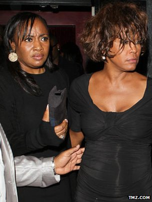 Photos published by TMZ.com showing Whitney Houston out in Hollywood on 9 February 2012