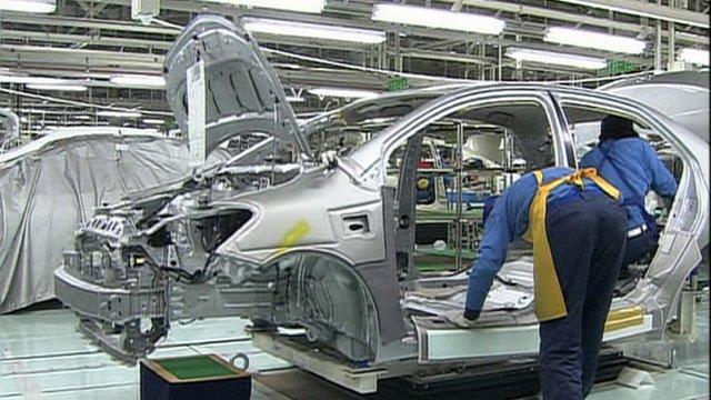 A Japanese car factory