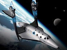 CGI of Virgin Galactic craft