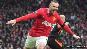 Man Utd striker Wayne Rooney