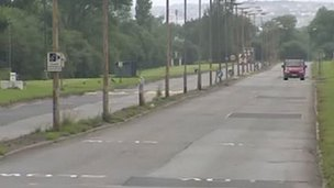 Former Llanwern Steelworks access road