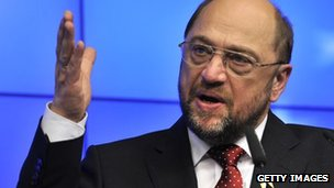 European Parliament president Martin Schulz