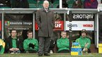 Roy Coyle watches his Glentoran team