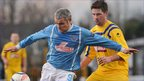 Gary McCutcheon and Matthew McKinstry in action at the Showgrounds