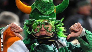 An Ireland fan in France