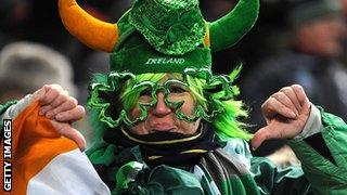 An Ireland fan in France