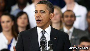 US President Barack Obama unveils 2013 federal budget in Virginia 13 February 2012