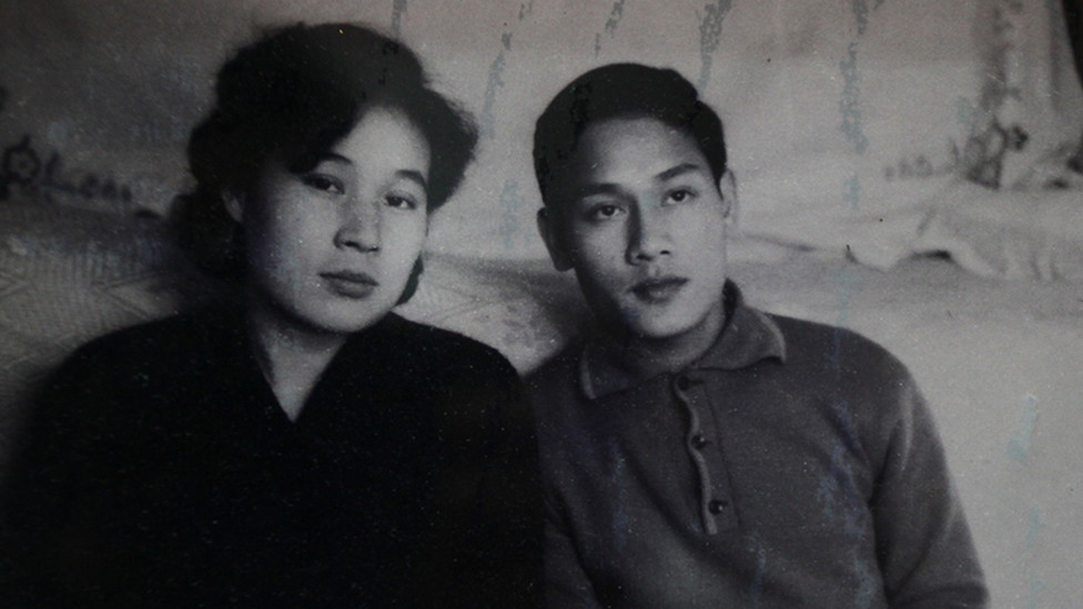 Pham Ngoc Canh and Ri Yong-hui, pictured several decades ago