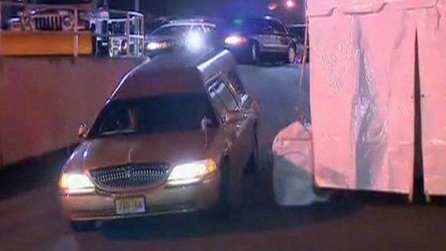 Whitney Houston's body arrives at funeral home