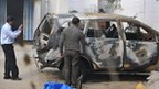Police in Delhi investigate the Israeli diplomat's car - 14 February 2012