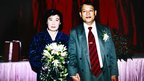 Pham Ngoc Canh and Ri Yong-hui at their wedding in Hanoi