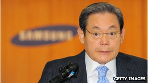 Samsung chairman Lee Kun-Hee was named South Korea's richest man in 2012