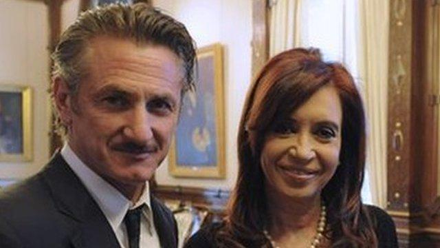 Sean Penn and Argentine President Cristina Fernandez
