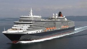 The Queen Elizabeth cruise liner, which is operated by Cunard