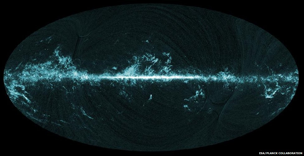 Planck all-sky carbon monoxide map (ESA/Planck collaboration)