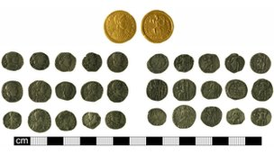 The coins found near Mildenhall