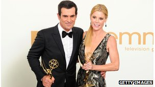 Ty Burrell with co-star Julie Bowen