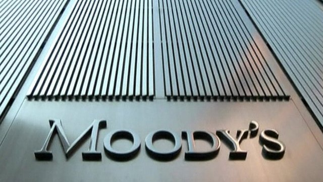 Sign outside Moody's HQ