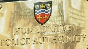 Humberside Police Authority sign