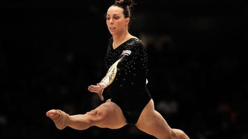 Beth Tweddle performing at the World Championships