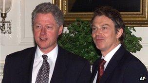 Tony Blair and Bill Clinton