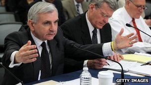 Sen Jack Reed speaks during a meeting of the House-Senate Conference Committee 7 February 2012