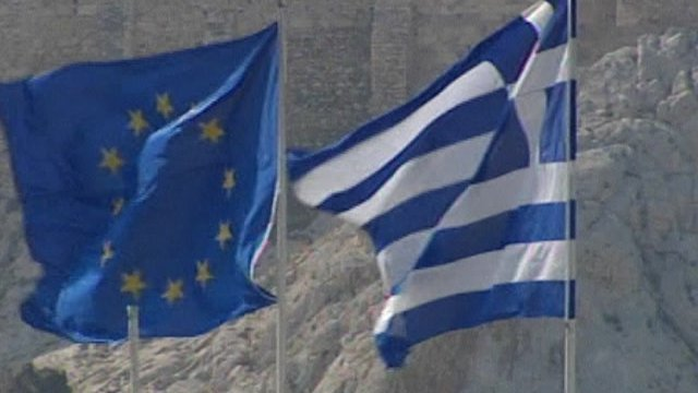 Flags in Athens