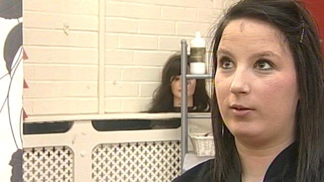 Kim Watson, trainee hairdresser