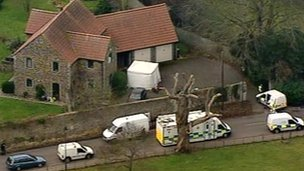 Shot of vicarage from the air