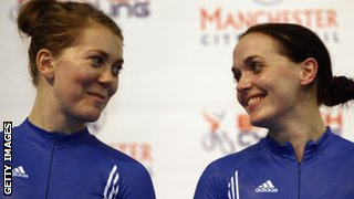 Jess Varnish (left) with Victoria Pendleton