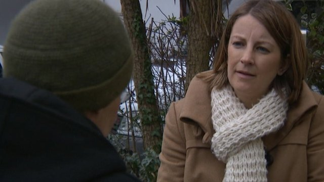 'Dave' shares his story with BBC Spotlight's Chloe Axford