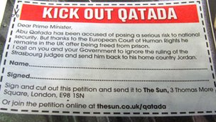 The Sun campaign to kick out Abu Qatada