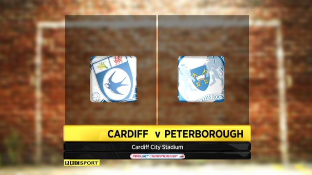Cardiff 3-1 Peterborough