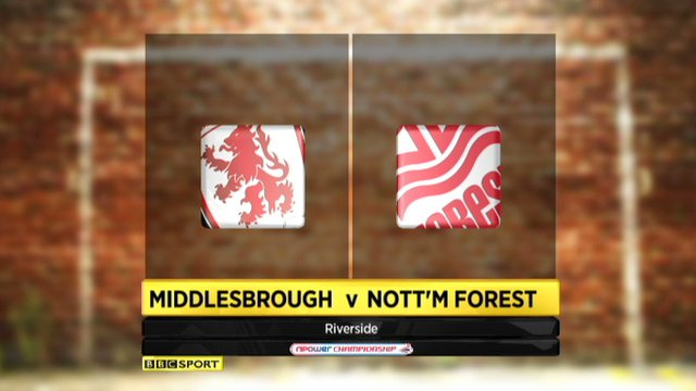 Middlesbrough 2-1 Notts Forest