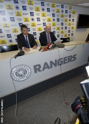 Clark and Whitehouse have been appointed Rangers' administrators