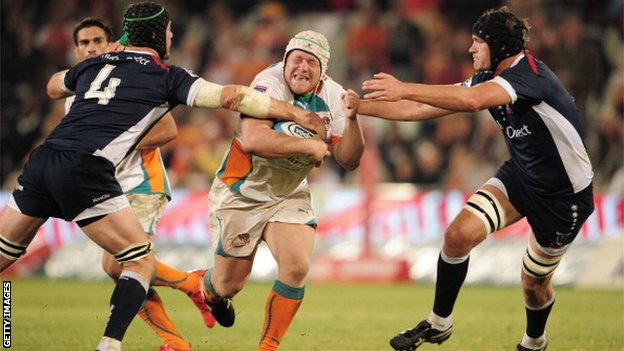 Nel (centre) has been an ever-present for Free State Cheetahs