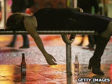 Generic woman passed out with drink