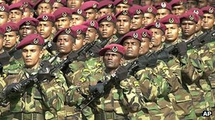File photo of Sri Lankan soldiers