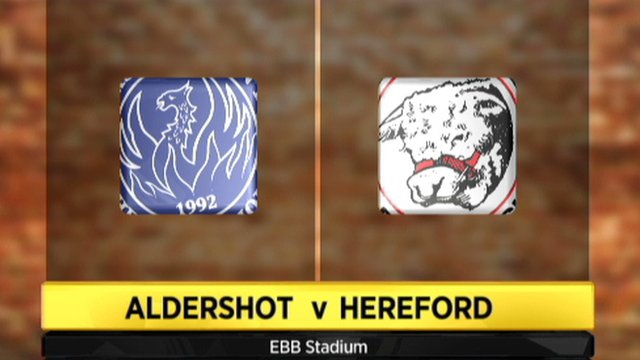 Aldershot 1-0 Hereford