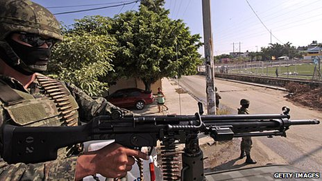 A soldier in Acapulco