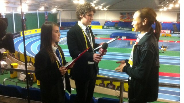 School Reporters and Jessica Ennis