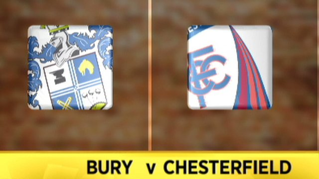 Highlights: Bury 1-1 Chesterfield