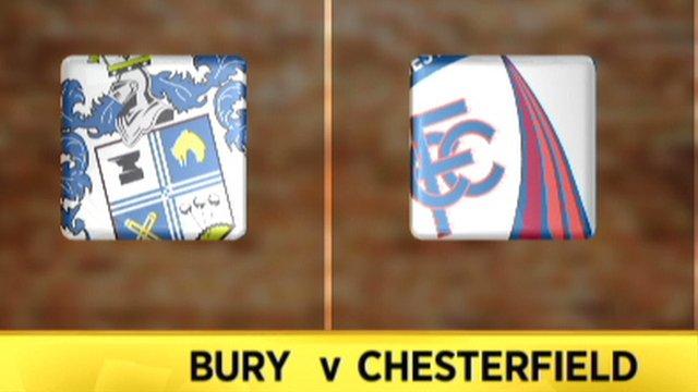 Highlights: Bury 1-1 Chesterfield