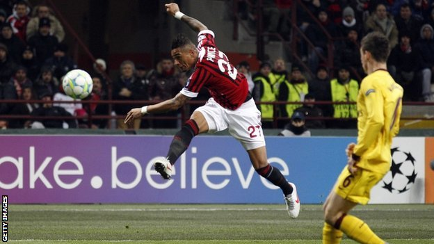 Kevin Prince-Boateng opens the scoring for Milan