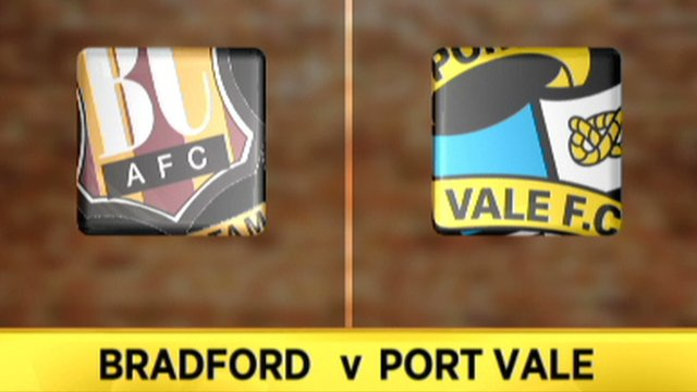 Highlights: Bradford 1-1 Port Vale