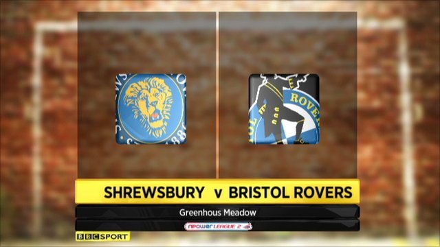 Shrewsbury 1-0 Bristol Rovers